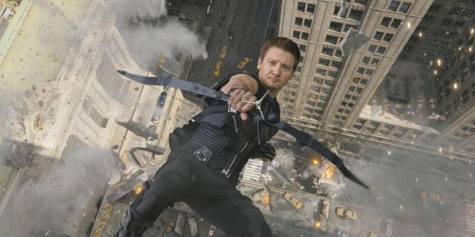 Hawkeye in action - but not alongside Ant-Man and the Wasp (credit: Marvel Studios)