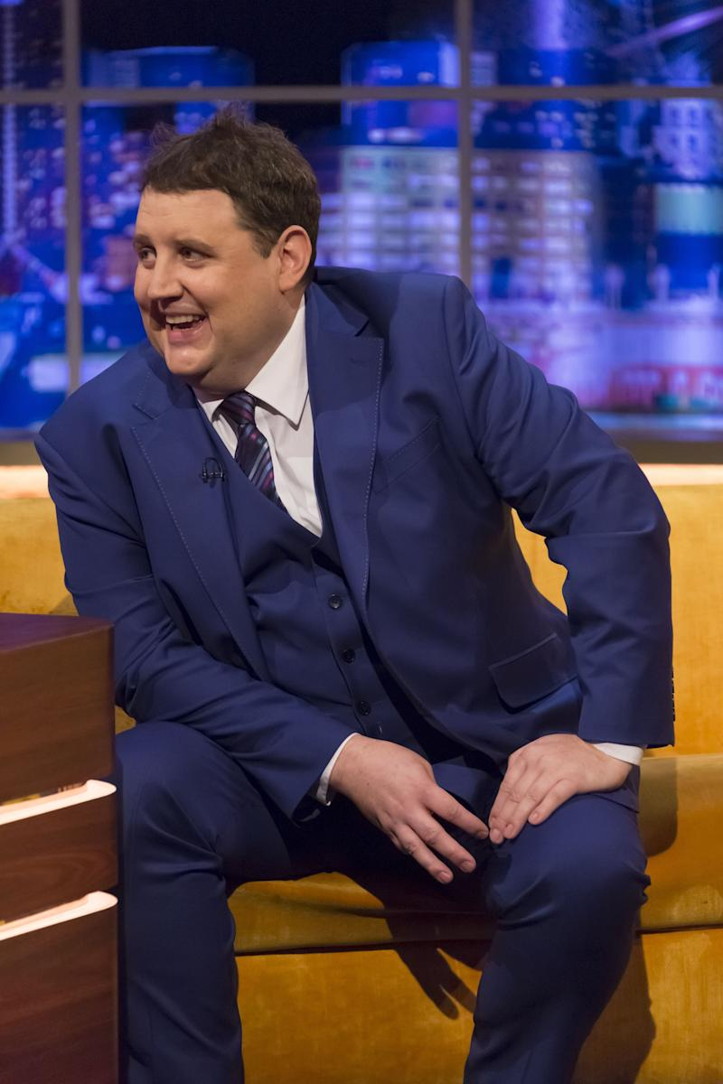 Peter Kay being interviewed on The Jonathan Ross Show in 2017 (Photo: Brian J Ritchie/Hot Sauce/Shutterstock)