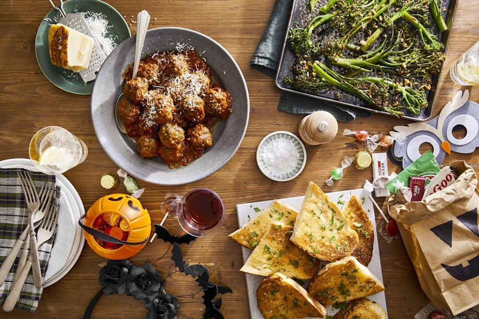 """<p>This rich, tasty meatballs will be a big hit with everyone—and if you don't want the kids to realize there's spinach inside, we won't say a word.</p><p><strong><a href=""""https://www.countryliving.com/food-drinks/a33943349/slow-cooker-spinach-and-parmesan-meatballs/"""" rel=""""nofollow noopener"""" target=""""_blank"""" data-ylk=""""slk:Get the recipe"""" class=""""link rapid-noclick-resp"""">Get the recipe</a>.</strong></p><p><a class=""""link rapid-noclick-resp"""" href=""""https://www.amazon.com/Crock-Pot-SCCPVL610-S-6-Quart-Programmable-Stainless/dp/B004P2NG0K/?tag=syn-yahoo-20&ascsubtag=%5Bartid%7C10050.g.4772%5Bsrc%7Cyahoo-us"""" rel=""""nofollow noopener"""" target=""""_blank"""" data-ylk=""""slk:SHOP SLOW COOKERS"""">SHOP SLOW COOKERS</a><br></p>"""
