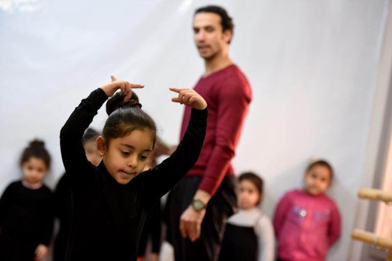 Around 160 students aged four to 26 -- including boys -- now flock to ballet lessons at the Alwanat Centre in Egypt's Minya city, up from 15 after classes were launched in May 2015 (AFP Photo/MOHAMED EL-SHAHED)