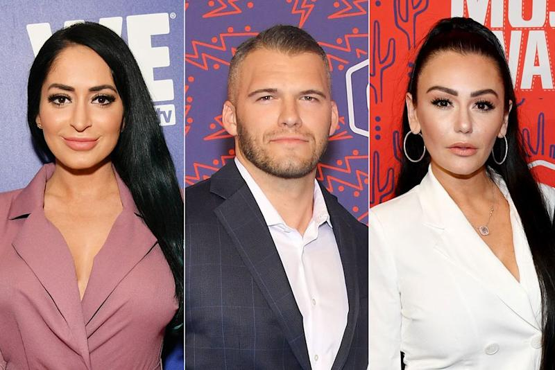 Angelina Pivarnick, Zack Carpinello and JWoww | Dia Dipasupil/Getty; Mike Coppola/Getty; Kevin Mazur/Getty