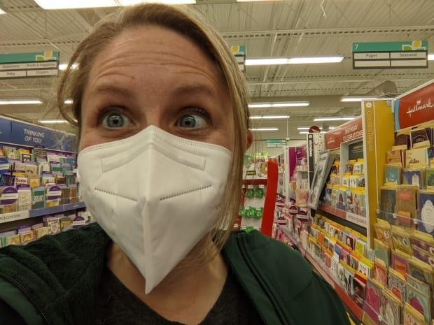 Stephanie Bolton, 44, posted this photo of herself on Twitter after she got the first dose of AstraZeneca on April 20. She said in a tweet: 'Got my AZ vaccine yesterday. So glad to be part of a cohort that is fearless and doing the right thing for the country. I took AZ so someone who's hesitant can pick a vaccine. We got your backs, Boomers!'