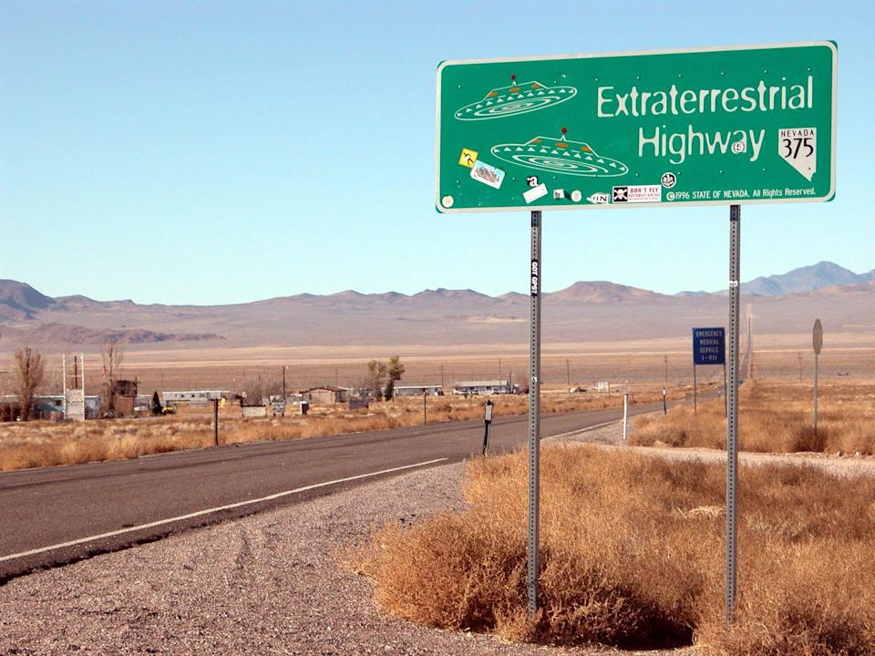 """<p>While heavily guarded and secure, Area 51 has been a place that has long fascinated the extraterrestrial–obsessed. However, the big secret of the protected base is that <a href=""""https://www.popularmechanics.com/military/research/a24152/area-51-history/"""" rel=""""nofollow noopener"""" target=""""_blank"""" data-ylk=""""slk:there are no aliens there"""" class=""""link rapid-noclick-resp"""">there are no aliens there</a>. Instead, the remote location is used as a test site for American-made, classified devices like aircrafts, communications, and weapons. </p>"""