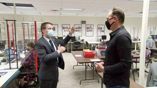 PHOTO: ABC's Clayton Sandell gets tour of Jefferson County, CO's vote-by-mail processing center (ABC News)