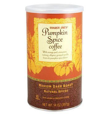 """<p>Make your own <a href=""""https://www.delish.com/food-news/a48892/things-you-should-know-before-drinking-a-pumpkin-spice-latte/"""" rel=""""nofollow noopener"""" target=""""_blank"""" data-ylk=""""slk:PSLs"""" class=""""link rapid-noclick-resp"""">PSLs</a> with TJ's pumpkin spice ground coffee. It's made with ground vanilla beans, pumpkin oil, orange peel, cinnamon, allspice, and nutmeg.</p>"""