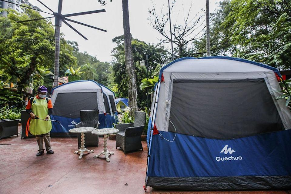 Camp Out is a new feature visitors can enjoy once the Sunway Lagoon theme park reopens. — Picture by Hari Anggara