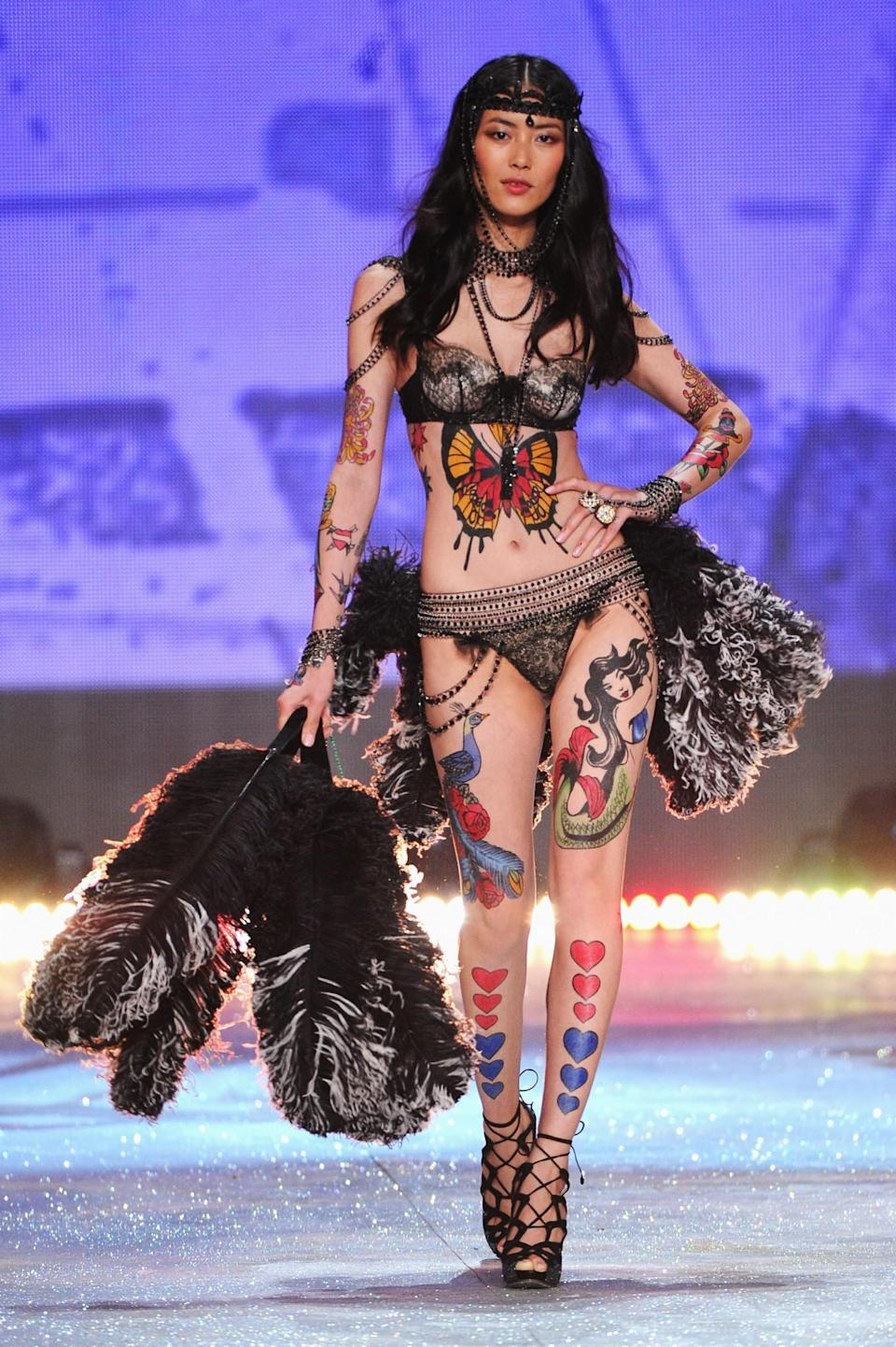 Liu Wen was the first Chinese model to walk on the Victoria's Secret runway. (Photo: Getty Images)
