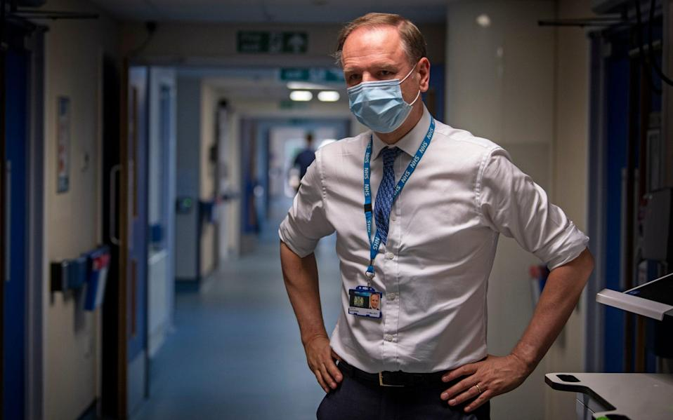 """Sir Simon Stevens said he would not """"sugar-coat"""" the facts and added that hospitals and staff are under """"extreme pressure"""". - Victoria Jones/PA Wire"""