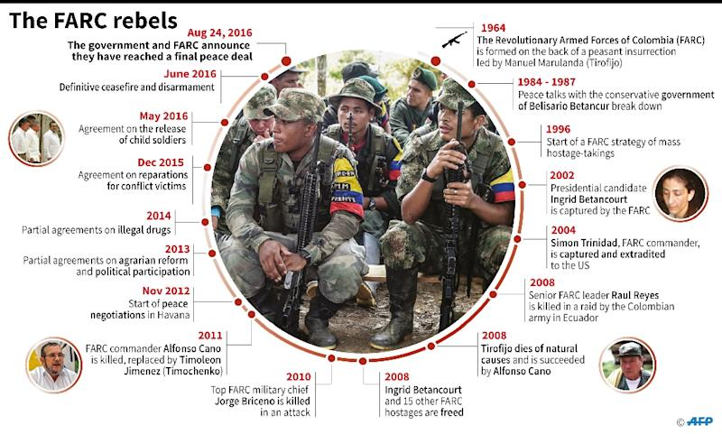 The FARC rebel movement (AFP Photo/Gustavo IZUS)