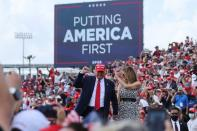 U.S. President Trump holds a campaign rally in Tampa, Florida