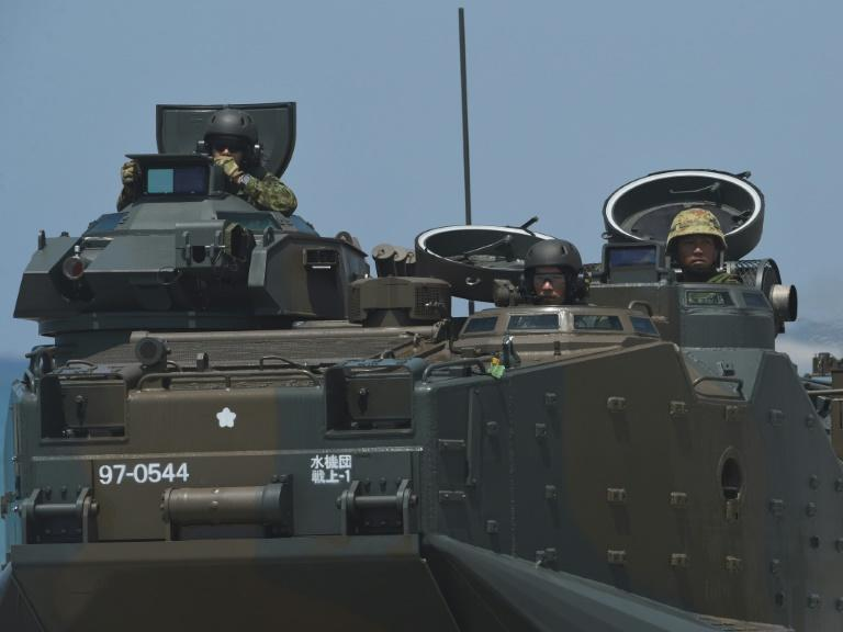 The exercise marked the first time Japanese armoured military vehicles were used on foreign soil since World War II