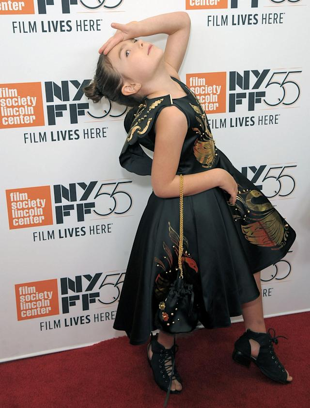 Brooklyn Princes poses on the New York Film Festival red carpet on Oct. 1, 2017.