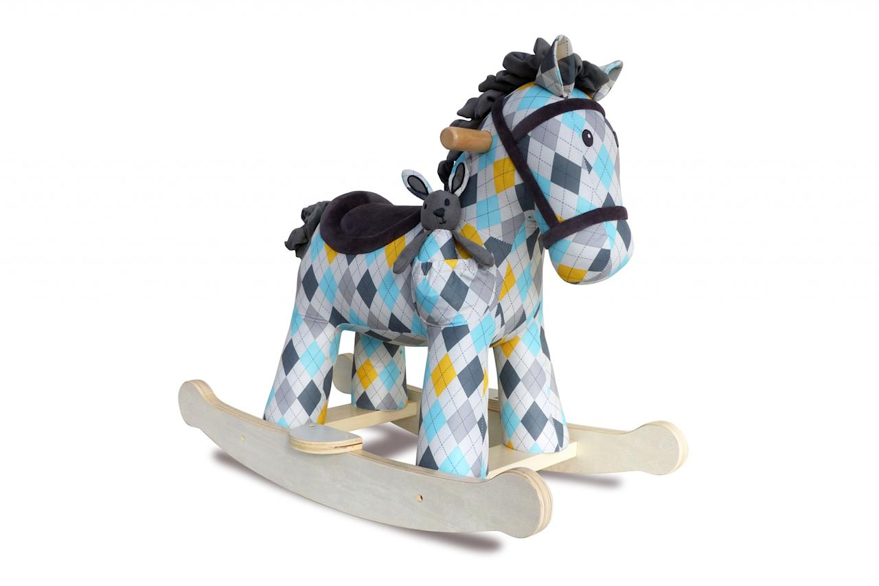 <p>In this on-trend geometric print, this rocking horse is a handsome addition to any nursery. </p>