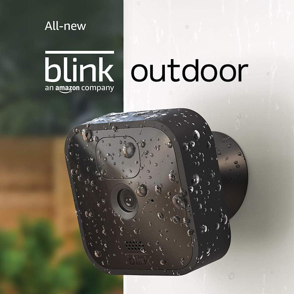 <p>Stay safe and protected with the <span>Blink Outdoor</span> ($70, originally $100). The security camera is wireless and weather-resistant, and it has motion detection. With long-lasting battery life, the Blink Outdoor runs for up to two years on two AA lithium batteries.</p>