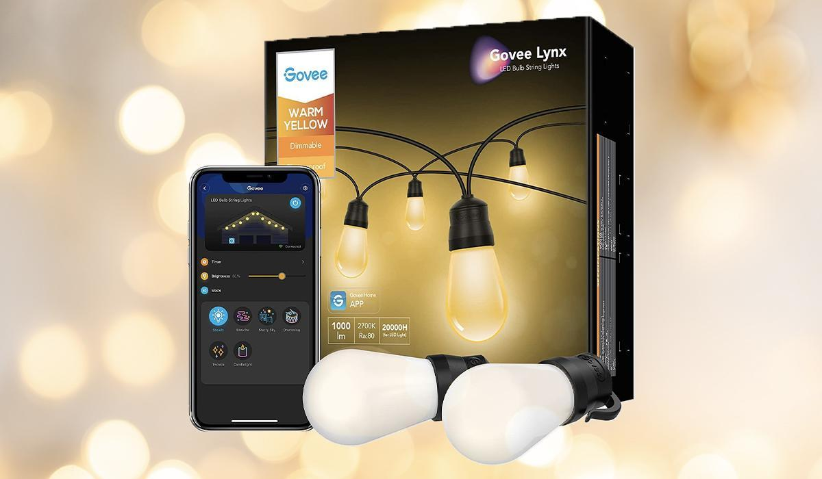 These super-popular string lights can work indoors and outdoors, and they're controlled by your choice of app or voice. (Photo: Govee)