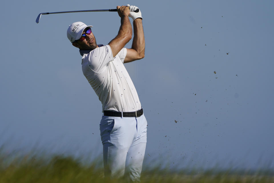 Cameron Tringale experienced the wrath of Kiawah Island Ocean Course on Friday at the PGA Championship in Kiawah Island, South Carolina. (Photo by Stacy Revere/Getty Images)