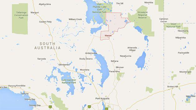 Two people and a light plane are missing in outback South Australia. Photo: Google