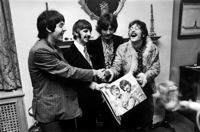 <p>A deluxe reissue of their 1967 opus <em>Sgt. Pepper's Lonely Hearts Club Band</em> reached No. 3 on the Billboard 200 in June. It marked the first time in chart history that a 50-year-old album had appeared in the top 10. Jolly good show! (Photo: Getty Images) </p>