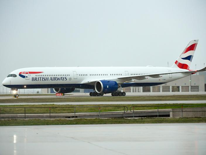 A British Airways Airbus A350-1000 XWB.