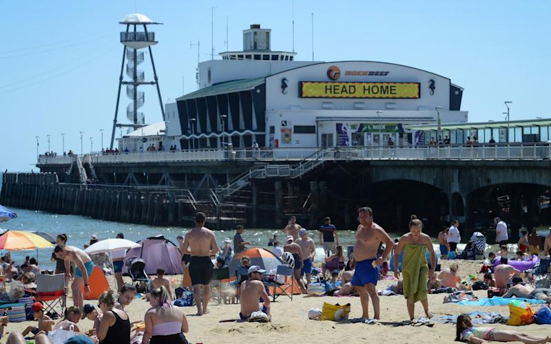 Bournemouth approached 'maximum capacity' as the Bank Holiday sun shone - Getty Images Europe