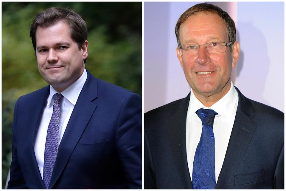 Planning row: Robert Jenrick and Richard Desmond. (Getty Images/PA)