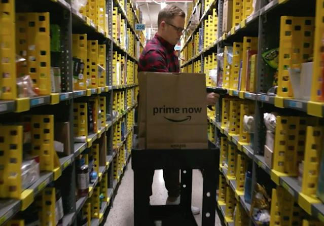 Amazon's Prime Now service can deliver your last minute Christmas gifts on Christmas day as long as you order by 9 p.m. on Christmas Eve.