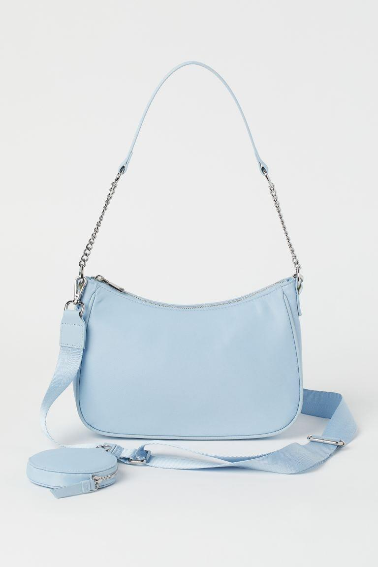 <p>This gorgeous baby blue <span>H&amp;M Shoulder Bag with Pouch Bag</span> ($25) needs to be in your cart ASAP. It can be worn as both a crossbody and shoulder bag, and it'll be a summer staple.</p>