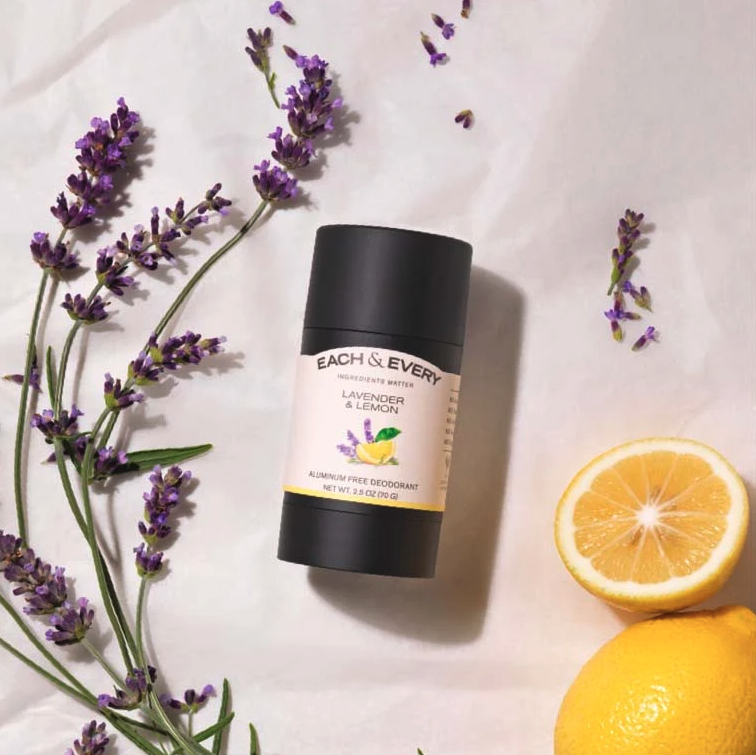 Lavender & Lemon Deodorant. Image via Each & Every.