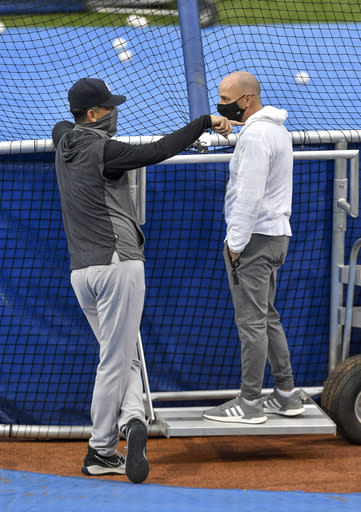 Sanchez back in Yanks lineup, Cashman talks to wobbling team