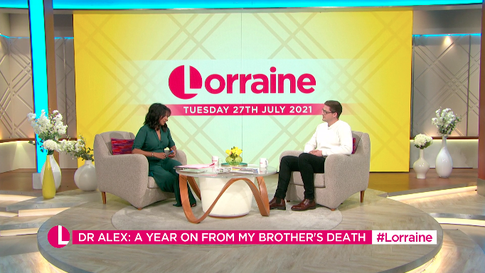 Ranvir Singh became emotional as she thanked Dr Alex George for helping other young people overcome mental health struggles. (ITV)