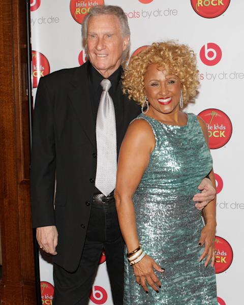 """Singers Bill Medley and Darlene Love attend the """"Right To Rock Benefit"""" at Cipriani Wall Street, on Thursday, Oct. 17, 2013 in New York. (Photo by Greg Allen/Invision/AP)"""