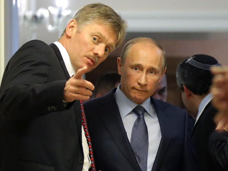 Dmitry Peskov is President Putin's chief spokesman: Getty