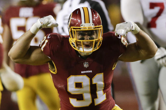 Do you want the Washington defense on your fantasy roster? Maybe in a week or two. (AP Photo/Mark Tenally)