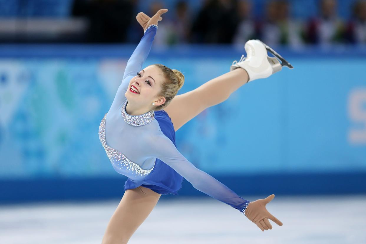Gracie Gold of the United States competes in the Women's Figure Skating Free Program on day 13 of the Winter Olympics in Sochi.