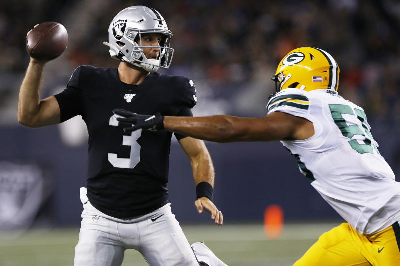Oakland Raiders quarterback Nathan Peterman will go on injured reserve. (AP)