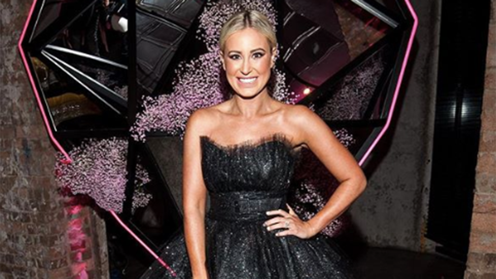 <p>Roxy Jacenko was dressed to impress to celebrate her company, Sweaty Betty PR's 15th birthday. However, when it came to her outfit, there was more than what met the eye.<br />Photo: Instagram/roxyjacenko </p>