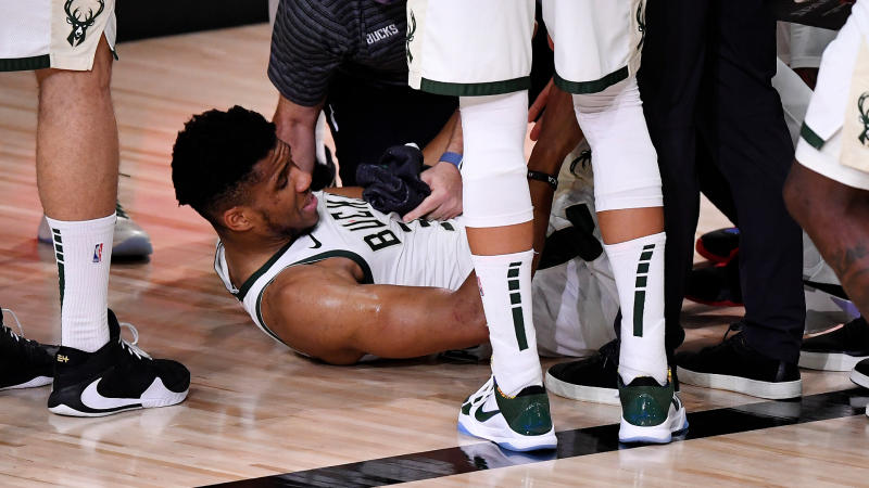 Giannis Antetokounmpo's availability for Game 5 uncertain after Bucks star reinjures ankle
