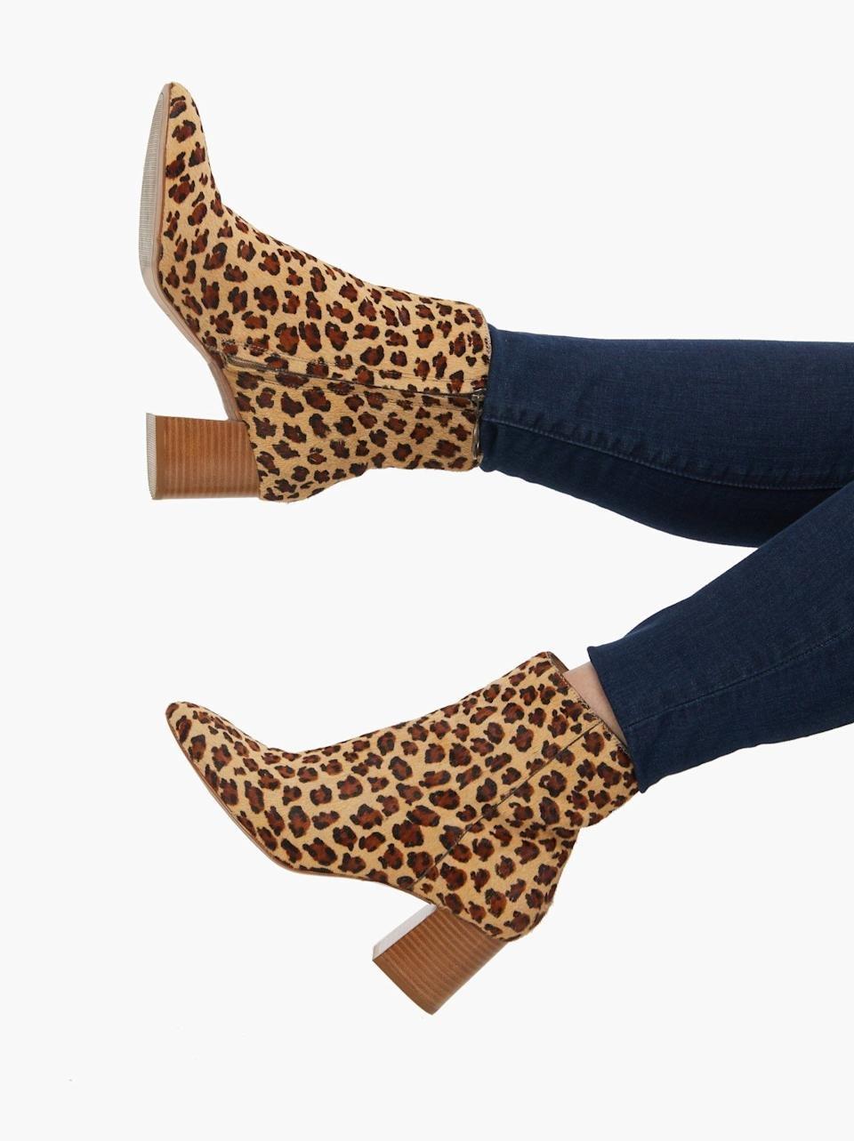 """These may just be the perfect boots. They're comfortable, have a heel that's just high enough, and will make you feel powerful when you walk down the street. You really can't go wrong.<br /><br /><strong>Promising review:</strong>""""I've found every excuse to wear these gorgeous boots! They're my new 'neutral,' and I've received numerous compliments every time I wear them. I even wore them to a wedding and danced for hours with zero pain. Perfect heel height and comfortable. The material is beautiful too!"""" — Jessi I.<br /><br /><strong>Get them from Able for<a href=""""https://go.skimresources.com?id=38395X987171&xs=1&url=https%3A%2F%2Fwww.livefashionable.com%2Fproducts%2Fcelina-ankle-boot&xcust=HPSplurgeWorthy60771eb6e4b01654bb7978a0"""" target=""""_blank"""" rel=""""nofollow noopener noreferrer"""" data-skimlinks-tracking=""""5753950"""" data-vars-affiliate=""""ShareASale"""" data-vars-campaign=""""-SplurgeWorthyBasicsKass10-29-20-5753950"""" data-vars-href=""""https://shareasale.com/r.cfm?afftrack=-SplurgeWorthyBasicsKass10-29-20-5753950&b=999&m=43903&u=1615998&urllink=www.livefashionable.com%2Fproducts%2Fcelina-ankle-boot"""" data-vars-keywords=""""fast fashion"""" data-vars-link-id=""""0"""" data-vars-price="""""""" data-vars-redirecturl=""""www.livefashionable.com/products/celina-ankle-boot"""" data-ml-dynamic=""""true"""" data-ml-dynamic-type=""""sl"""" data-orig-url=""""https://shareasale.com/r.cfm?afftrack=-SplurgeWorthyBasicsKass10-29-20-5753950&b=999&m=43903&u=1615998&urllink=www.livefashionable.com%2Fproducts%2Fcelina-ankle-boot"""" data-ml-id=""""33"""">$154</a>(originally $188; available in sizes 6-10 and in five colors and patterns).</strong>"""