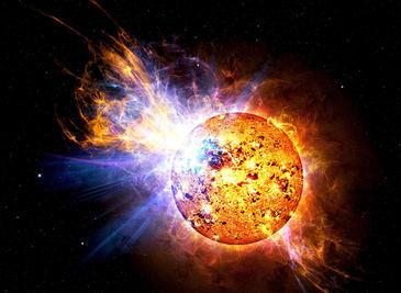 Flare Star Gets 15 Times Brighter in Minutes