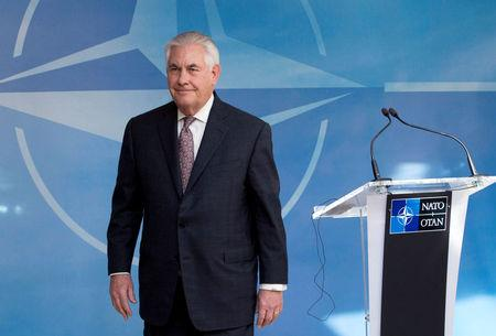 U.S. Secretary of State Tillerson takes part in a NATO foreign ministers meeting at the Alliance's headquarters in Brussels