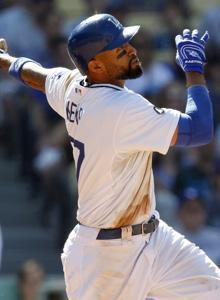 Slugger Matt Kemp is about to remain a Dodger for the next eight seasons