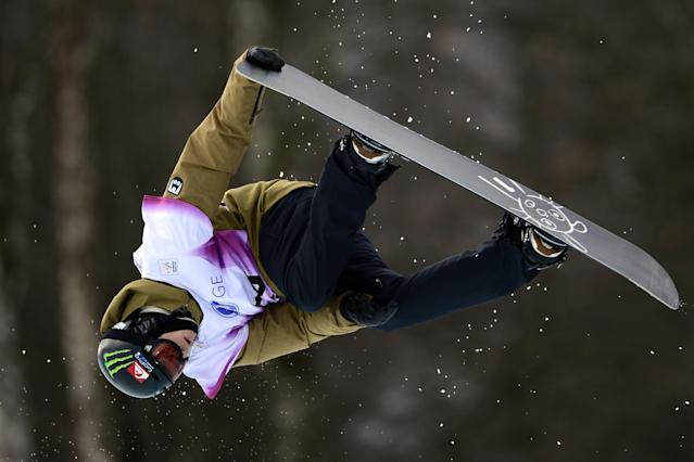 Swiss Iouri Podladtchikov competes in a Half-Pipe qualifying race during the Snowboarding World Cup Test Event at Snowboard and Free Style Center in Rosa Khutor near Sochi on February 13, 2013. AFP PHOTO / JAVIER SORIANOJAVIER SORIANO/AFP/Getty Images