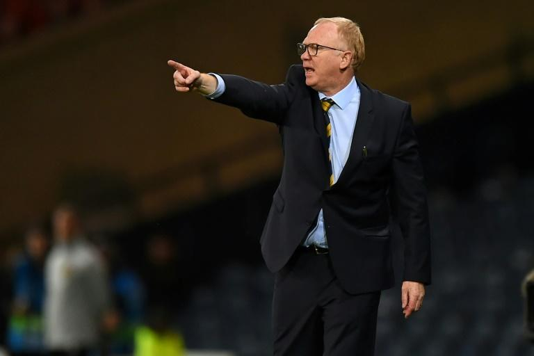 Pointing forward: manager Alex McLeish is hoping to take Scotland to their first major tournament since the 1998 World Cup