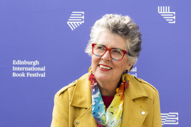 EDINBURGH, SCOTLAND - AUGUST 10: British-South African restaurateur, chef, caterer, television presenter/broadcaster, businesswoman, journalist, cookery writer and novelist Prue Leith attends a photocall during the Edinburgh International Book Festival 2019 on August 10, 2019 in Edinburgh, Scotland. (Photo by Simone Padovani/Awakening/Getty Images)