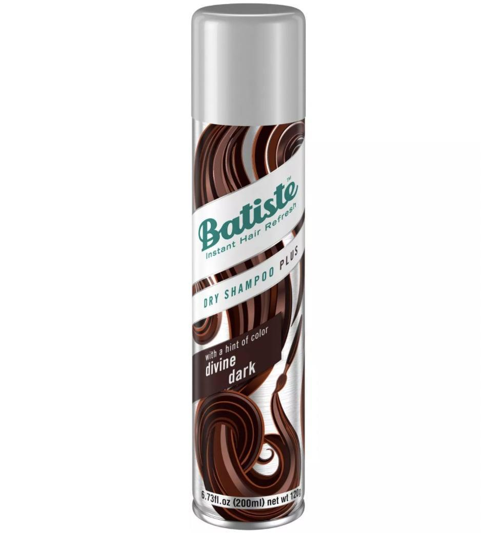 """<p>The <a href=""""https://www.target.com/p/batiste-hint-of-color-divine-dark-dry-shampoo-6-73-fl-oz/-/A-16986875"""" class=""""link rapid-noclick-resp"""" rel=""""nofollow noopener"""" target=""""_blank"""" data-ylk=""""slk:  Batiste Hint of Color Divine Dark Dry Shampoo""""><br> Batiste Hint of Color Divine Dark Dry Shampoo</a> ($7) has a dark hue that works on even the deepest shades. Just shake, spray, and rub in. </p>"""