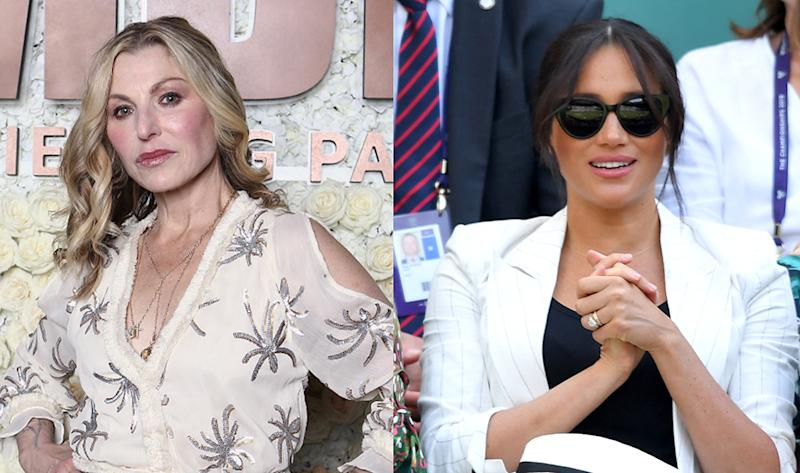 Tatum O'Neal criticized Meghan following reports that her staff asked Wimbledon attendees to not photograph her. (Photos: Getty Images)