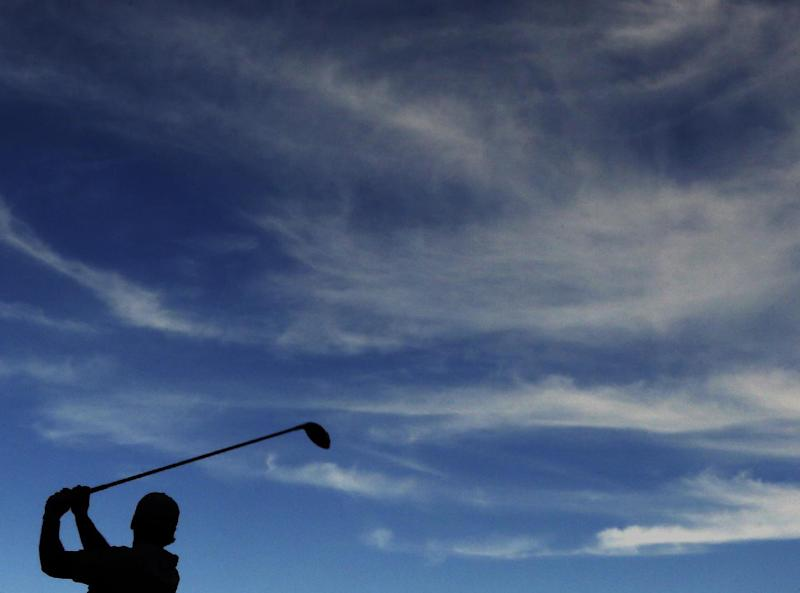 Jason Day, of Australia, tees off on the 14th hole during the third round of the Masters golf tournament Saturday, April 13, 2013, in Augusta, Ga. (AP Photo/David J. Phillip)