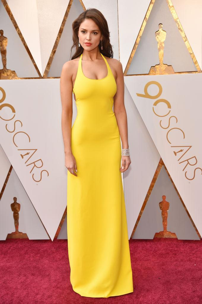 <p>Eiza González attends the 90th Academy Awards in Hollywood, Calif., March 4, 2018. (Photo: Getty Images) </p>