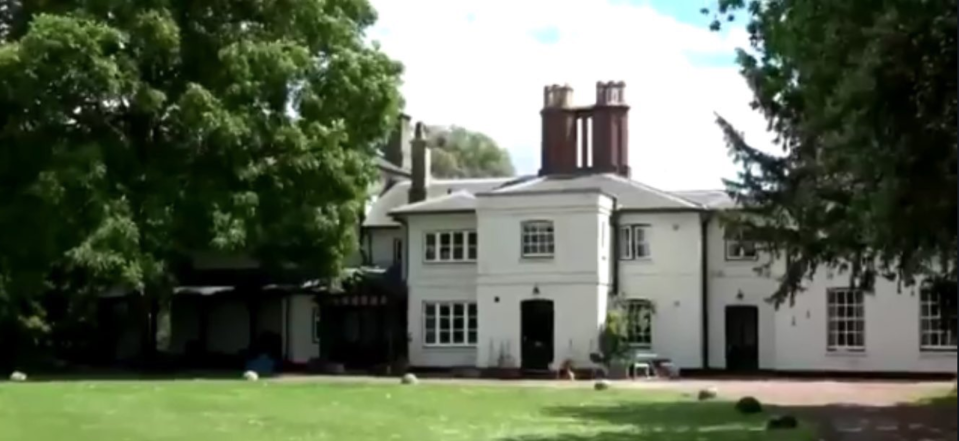 Prince Harry and Meghan Markle's new home, Frogmore Cottage. Image via Twitter.bv