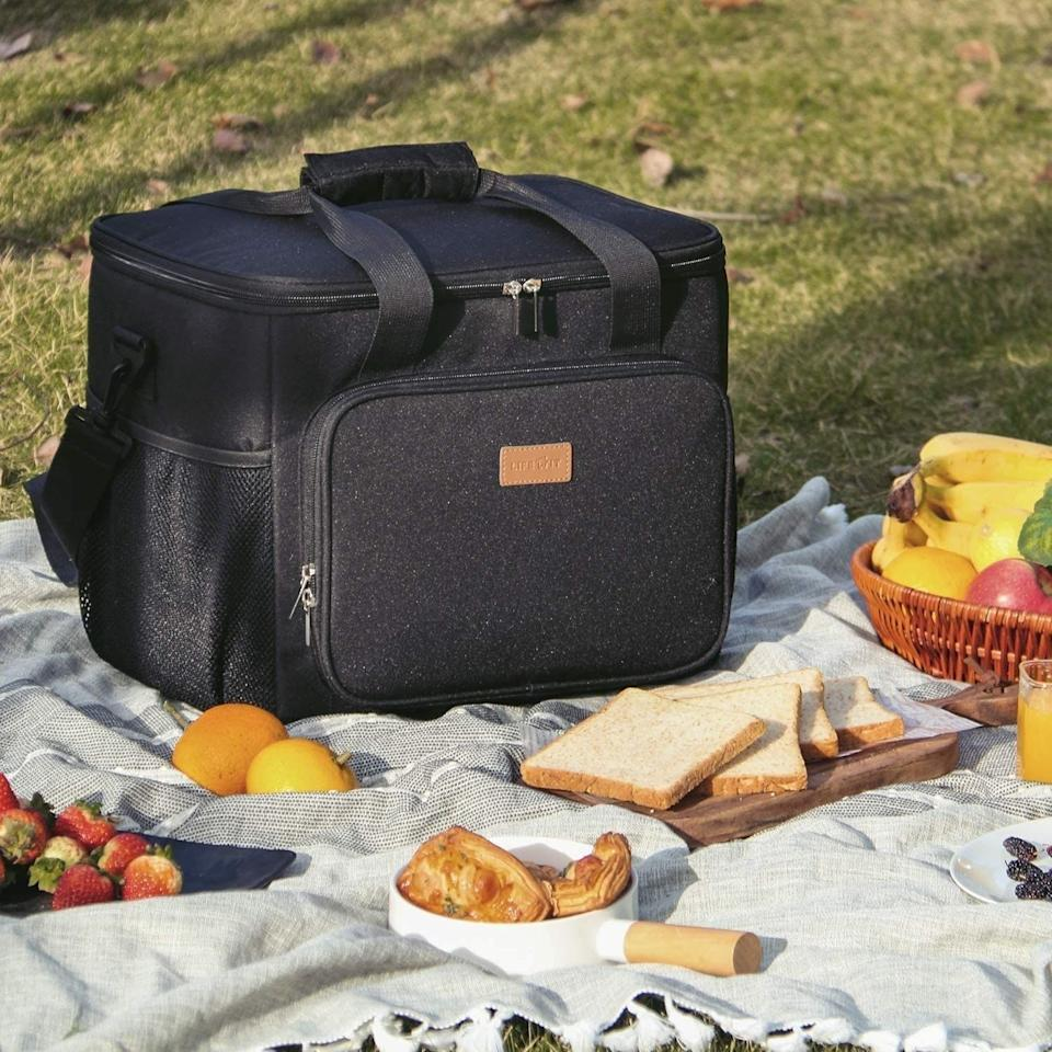 """Keep your snacks fresh inside your car with this insulated cooler. It's pretty typical for toddlers to need food every three to four hours, so having snacks and drinks inside the car helps prevent crankiness between meals.<br /><br /><strong>Promising review:</strong>""""This is the perfect lunch bag to take on a picnic or road trip. It is big and roomy and can hold items for the whole family.<strong>I can pack all of my kids' snacks in one bag.</strong>The design is sleek and looks nice."""" —<a href=""""https://www.amazon.com/dp/B07XXQF5KP?tag=huffpost-bfsyndication-20&ascsubtag=5871416%2C7%2C27%2Cd%2C0%2C0%2C0%2C962%3A1%3B901%3A2%3B900%3A2%3B974%3A3%3B975%3A2%3B982%3A2%2C16385568%2C0"""" target=""""_blank"""" rel=""""noopener noreferrer"""">Adam</a><br /><strong><br />Get it from Amazon for<a href=""""https://www.amazon.com/dp/B07XXQF5KP?tag=huffpost-bfsyndication-20&ascsubtag=5871416%2C7%2C27%2Cd%2C0%2C0%2C0%2C962%3A1%3B901%3A2%3B900%3A2%3B974%3A3%3B975%3A2%3B982%3A2%2C16385568%2C0"""" target=""""_blank"""" rel=""""noopener noreferrer"""">$19.99+</a>(available in two colors and two sizes).</strong>"""